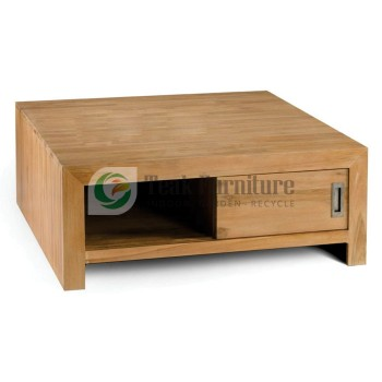 Square Coffee Table Whit Door