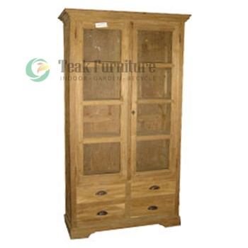 4 Drw Cabinet Whit Glass